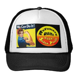 Refudiate Obama - We Can Do It! Mesh Hat