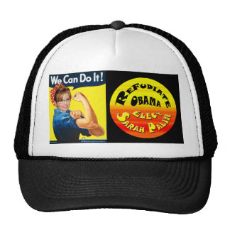 Refudiate Obama - We Can Do It! Trucker Hat