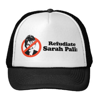 Refudiate Sarah Palin Mesh Hats