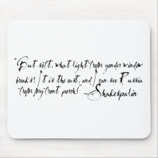 Refudiate with the Bard of Wasilla ShakesPalin Mouse Pad