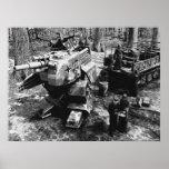 Refueling Bipedal Panzer B/W Print