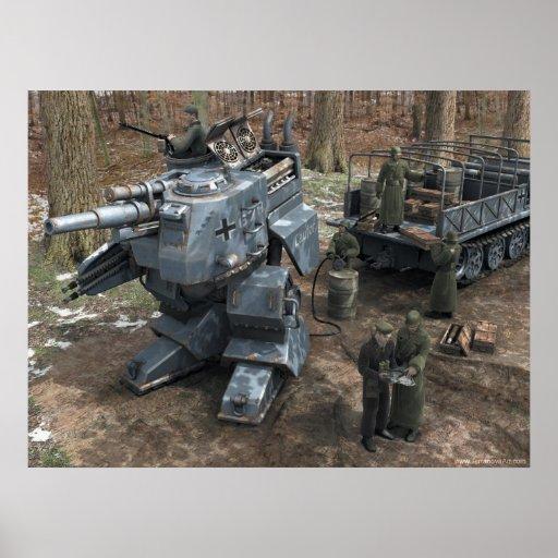Refueling Bipedal Panzer Print