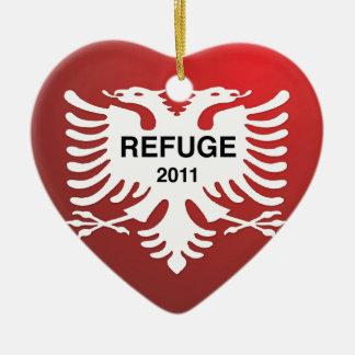 Refuge 2011 Double-Sided heart ceramic christmas ornament