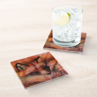 Refuge Fox Glass Coaster