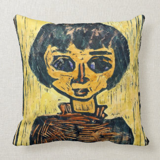 Refugee Child 1930 Throw Pillows