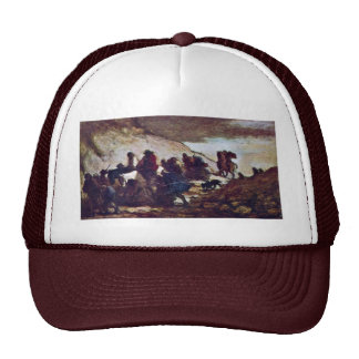 Refugees By Daumier Honoré Trucker Hat