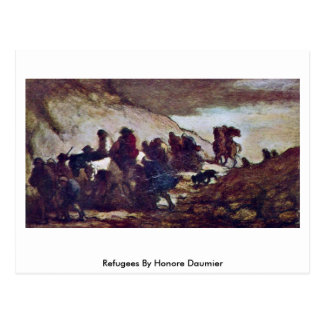 Refugees By Honore Daumier Postcard