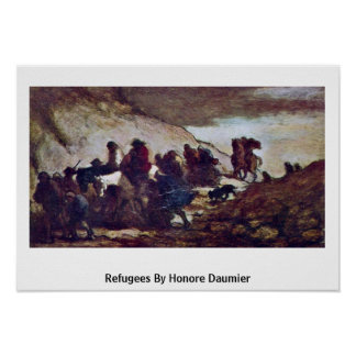 Refugees By Honore Daumier Poster