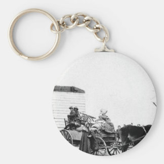Refugees leaving the Old Homestead_War Image Keychain