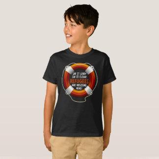 Refugees Welcome Boy's Dark T-Shirt