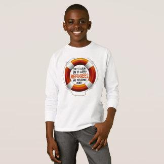 Refugees Welcome Boy's Long Sleeve T-Shirt