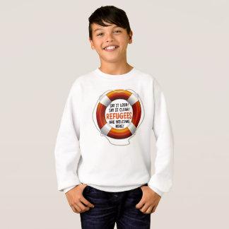 Refugees Welcome Boy's Sweatshirt