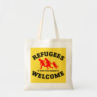 Refugees Welcome Bring Your Families Budget Tote Bag