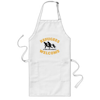 Refugees Welcome Bring Your Family Long Apron