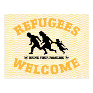 Refugees Welcome Bring Your Family Postcard