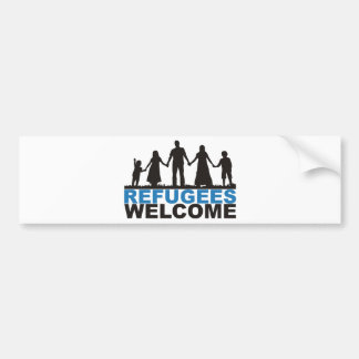 Refugees Welcome Bumper Sticker