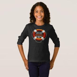 Refugees Welcome Girl's Dark Long Sleeve T-Shirt