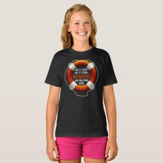 Refugees Welcome Girl's Dark T-Shirt