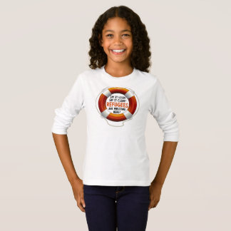 Refugees Welcome Girl's Long Sleeve T-Shirt