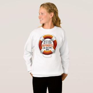 Refugees Welcome Girl's Sweatshirt