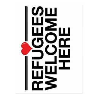 Refugees Welcome Here Postcard