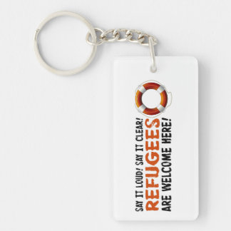 Refugees Welcome Key Chain