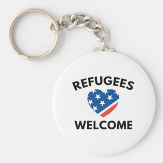 Refugees Welcome Keychain