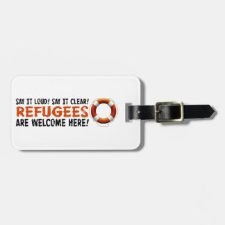 Refugees Welcome Luggage Tag