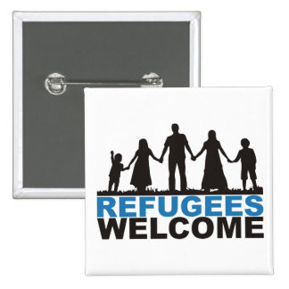 Refugees Welcome Pinback Button
