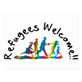 Refugees Welcome Postcard