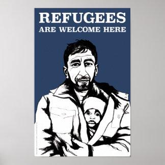 Refugees Welcome Poster (Heavyweight, Matte)