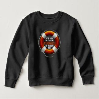 Refugees Welcome Toddler Dark Sweatshirt