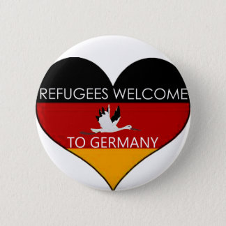 refugees welcome ton of Germany Pinback Button