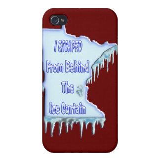 Refugiado de la cortina del hielo iPhone 4 protectores