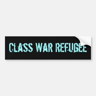 Refugiado de la guerra de clase pegatina para auto