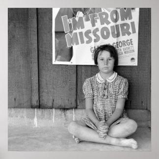 Refugiado de la inundación - 1939. póster