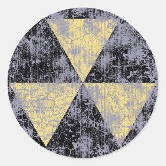 Refugio-cl-dist del polvillo radiactivo pegatina redonda