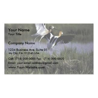 Refugio de la ave migratoria del río del oso tarjetas de visita