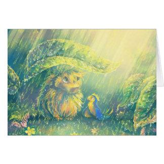 Refugio de la lluvia tarjeta