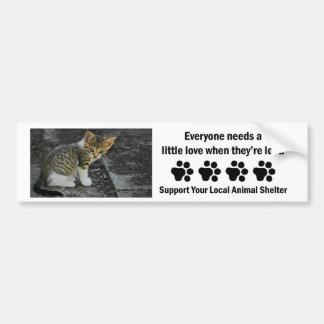 Refugio del Coger-Animal Pegatina Para Auto