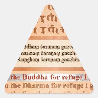 Refugio que busca en Buda Calcomanías Trianguladas Personalizadas