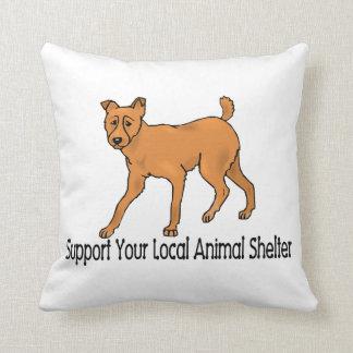 Refugios para animales de la ayuda cojin