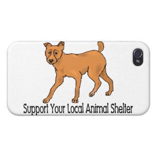 Refugios para animales de la ayuda iPhone 4 protectores