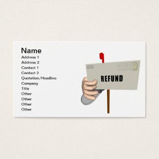 Refund Business Card