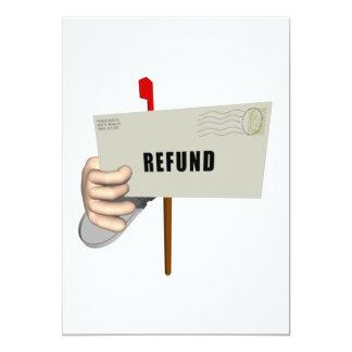 "Refund 5"" X 7"" Invitation Card"