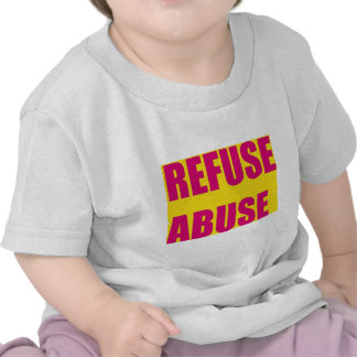 Refuse abuse baby t-shirts