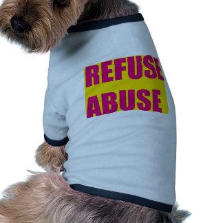 Refuse abuse pet t-shirt