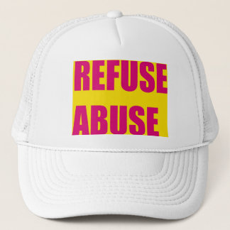 Refuse abuse trucker hats