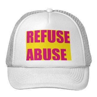 Refuse abuse trucker hats