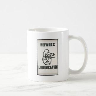 Refuse.. Intoxication (Vintage, Paris) Classic White Coffee Mug